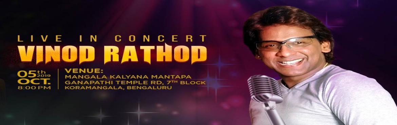 Book Online Tickets for Vinod Rathod Live Concert at Sarathi - D, Bengaluru. Vinod Rathod Live Concert at Sarathi - Durga Puja Event 2019 in Bangalore  Catch Bollywood singer Vinod Rathod @ Sarathi Durga Puja 2019 (#SAMMAD2019), Koramangala, Bengaluru on October 5th, 8:00 PM onwards. The voice behind SRK & Sanjay Dutt in