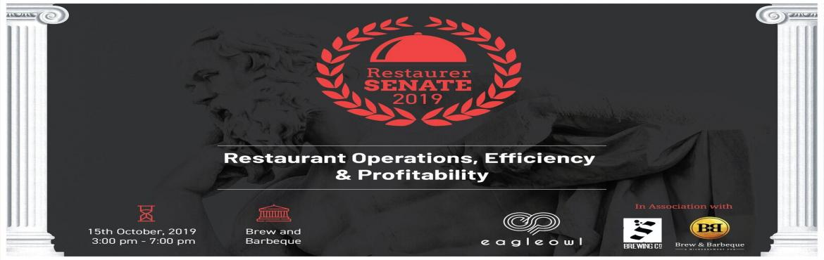 Book Online Tickets for Restaurer Senate 2019- Organised by Eagl, Bengaluru. About this Event:Held at the Brew & Barbeque, Bangalore, this year, Restaurer Senate connects the owners, consultants & senior executives in the F&B industry over new ideas, technology and disruptions. During the event hosted by EagleOwl,