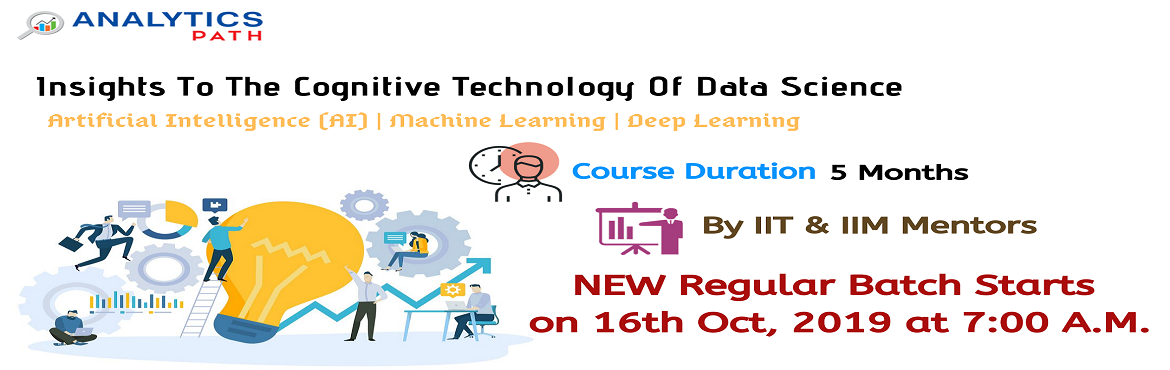 Book Online Tickets for Enroll Now For Data Science New Regular , Hyderabad. Enroll Now For Data Science New Regular Batch Starts On 16th Oct, 7 AM, Hyderabad-Attended By Experts From IIT And IIM, At Analytics Path. About The Event- Interested in exploring a new world of opportunities in the analytics technology of Data Scien