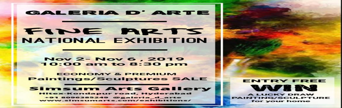 Book Online Tickets for Galeria DArte - Fine Arts National Exhib, Hyderabad. SimSum Arts Gallery is hosting The Galeria D\'Arte - Fine Arts National Exhibition. Experience the spectacle of display and sale of magnificent and dazzling artworks from all over India. You will get a chance to have a glance at various different typ