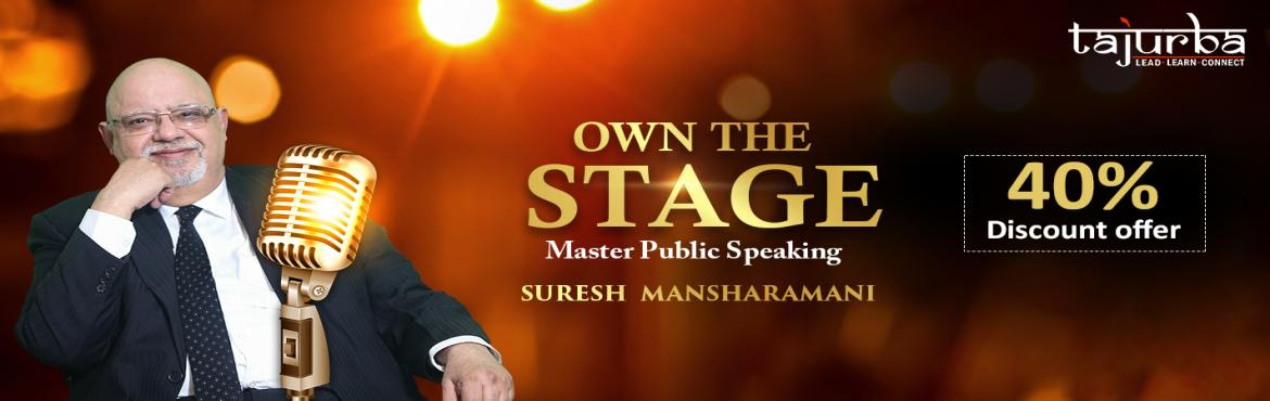 Book Online Tickets for Biggest Workshop on Public Speaking in D, New Delhi.  WHO IS THIS WORKSHOP FOR?  Entrepreneurs Aspiring Entrepreneurs Start-ups Professionals Coaches Trainers  The power of your voice Speaking is the greatest doorway to meet your needs. It's the doorway as a businessman, as a parent,