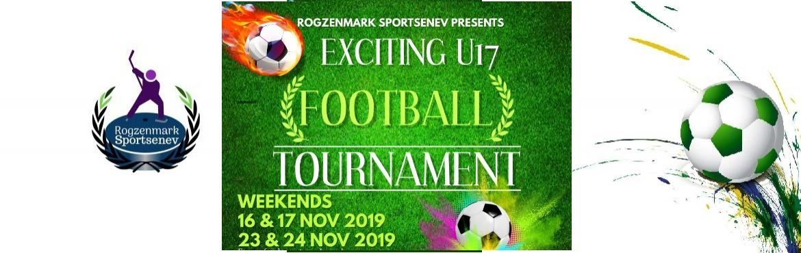 Book Online Tickets for Football tournament, New Delhi.  AGE GROUP: U17 BOYS   DATES: Once a team registers, it is valid for the whole tournament and the matches are held on 2 weekends i.e.   16 & 17 Nov 2019. (Saturday & Sunday) 23 & 24 Nov 2019. (Saturday & Sunday)  &