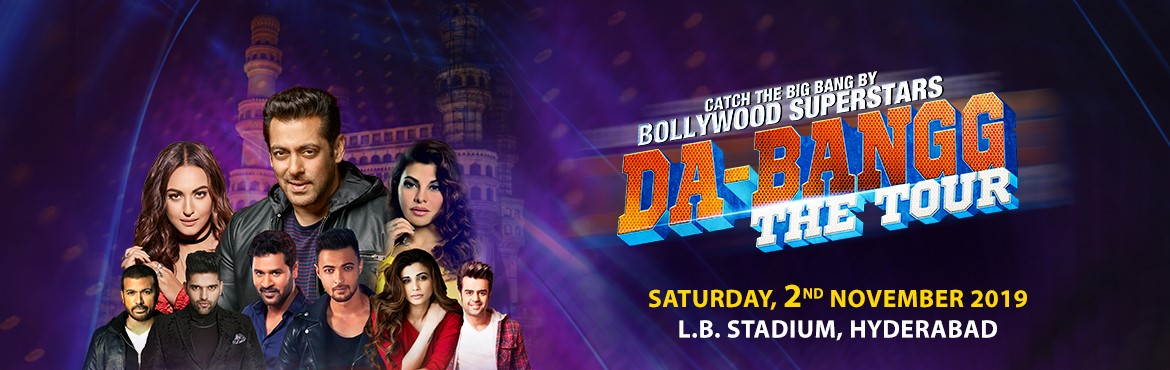 Book Online Tickets for Da-Bangg The Tour, Hyderabad, Hyderabad.   Salman Khan fans gear up to witness the most sensational Bollywood event Hyderabad has ever seen!!  Da-bangg The Tour!! After touring US, Canada, UK, Australia, New Zealand and Hong Kong, the biggest and the most antic