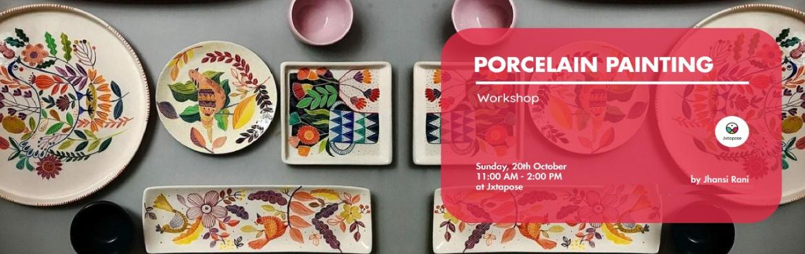 Book Online Tickets for Porcelain Painting, Hyderabad. Porcelain painting is the decoration of glazed porcelain objectd. Usually the painting is done on whiteplatters, vases, tiles, bowls and other stuff. Porcelain colours mixed with different mediums are used in the workshop. Come down to Jxtapose for a