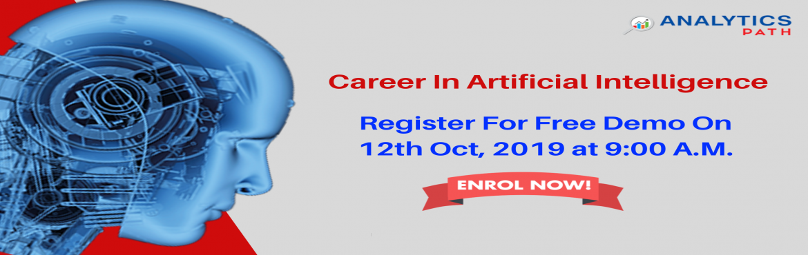 """Book Online Tickets for Get Registered For Free AI Interactive S, Hyderabad. Get Registered For Free AI Interactive Session By Experts At Analytics Path On Saturday , 12th Oct @ 9 am Hyderabad. About The Event- Be a part of the Analytics Path highly acclaimed """"Free Interactive Session On AI Training"""" by analytics"""