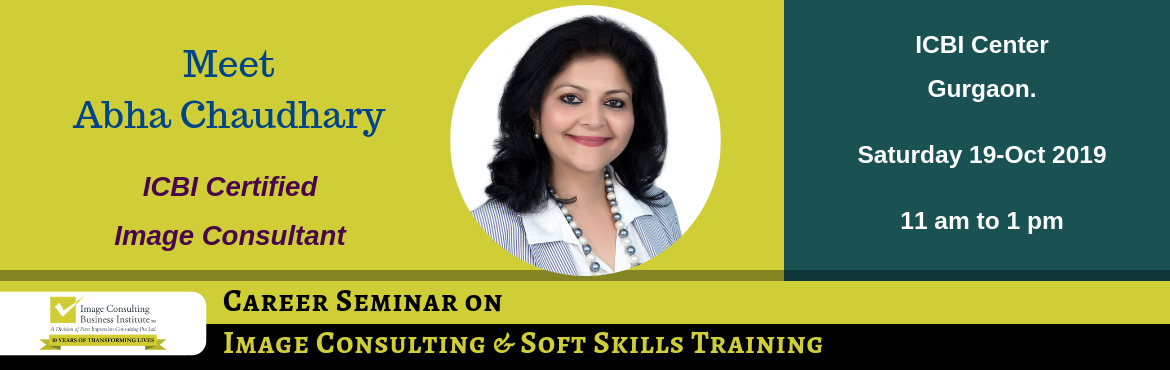 Book Online Tickets for ICBI Seminar on Career Opportunities in , Gurugram. You could be a working professional, on sabbatical, homemaker or a student desiring to start something of your own. If have a sense of style & aesthetics, passion for training and helping people change their lives then this is the opportunity for