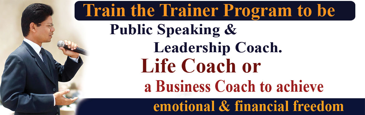 Book Online Tickets for Train the Trainer program to become a Li, Hyderabad. Welcome to Train the Trainer program to become a Leadership Coach or a Business Coach to achieve Emotional & financial freedom with Life Management Academy,  If you are passionate about not only improving the quality of your life, but helpi