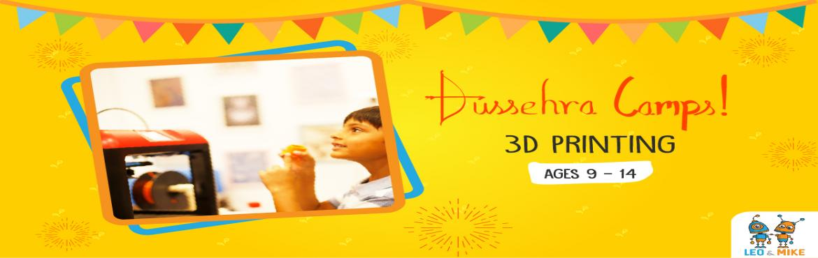Book Online Tickets for 3D Printing for Ages 9 -14, Hyderabad. This Dussehra vacation, let your child explore and uncover the fun side of science! Let them tinker, experiment, design, build, play and have fun at the 2-day hands-on camps by Leo & Mike.  This camp is a great place to start if you want to intro