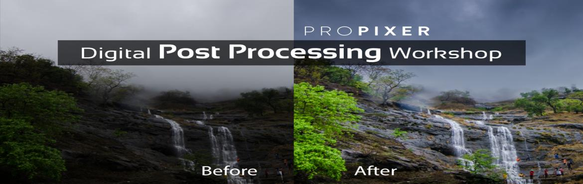 Book Online Tickets for Digital Image Post Processing Workshop M, Mumbai. Always wanted to learn more about editing and processing your images to enhance the look of your images? With easy-to use tools, Lightroom not only helps you to retouch and edit your photos, it is a powerful organizational tool to help you manage you