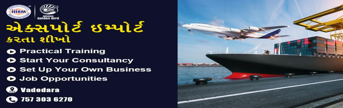 Book Online Tickets for Start and Set up Your Own Import and Exp, Vadodara. Suitable For -1. Any Graduate / MBA student willing to become Exporter / Importer. 2. Businessmen having their own shop/ factory/products Or willing to Export their own Products.3. Anyone willing to work in Export / I