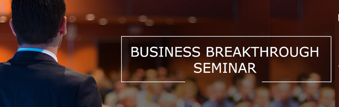 Book Online Tickets for Business Breakthrough Seminar  , New Delhi.  Delhi!! Are YOU ready to build a business that\'s Profitable + Scalable? Because I\'m ready to help you unlock the best-kept secrets! I would like to invite you to our BUSINESS BREAKTHROUGH Seminar - 9th Nov 2019 and you can reserve your spot h