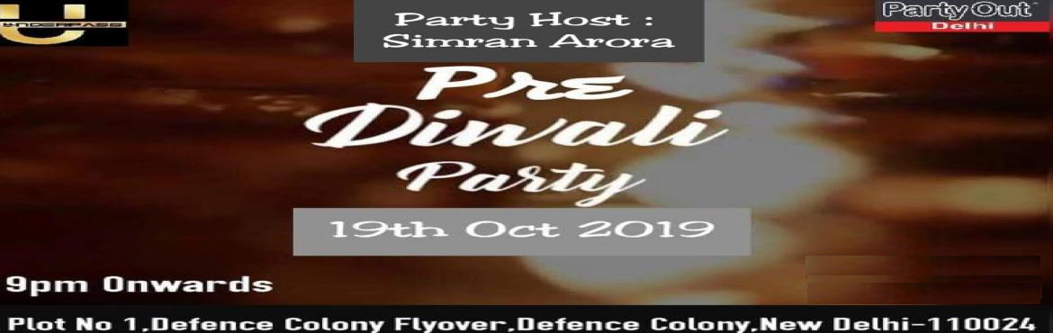 Book Online Tickets for Pre Diwali Bash By Party Out Delhi, New Delhi. PRE DIWALI BASH BY PARTY OUT DELHIYour Favourite Host Party Out Delhi Brings You Sensational Pre Diwali Bash This Saturday In An Awesome Club In South Delhi (After A Very Long Time) !!!The Ecstatic Evening Will be High on Music that will Make You Sha