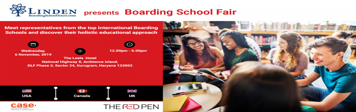 Book Online Tickets for Boarding School Fair, Gurugram. Join us for a FREE Boarding School Fair on Wednesday, 6 November in Delhi and meet representatives from world-renowned boarding schools in the UK, USA and Canada to get answers to all your questions.
