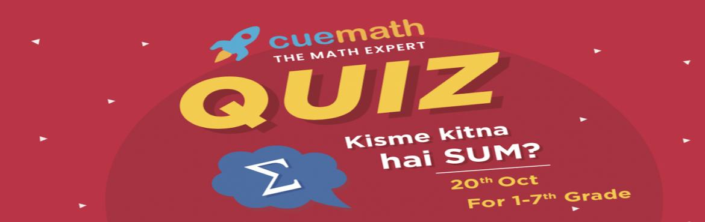 Book Online Tickets for Cuemath Quiz 2019, Hyderabad.
