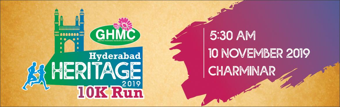 Book Online Tickets for Hyderabad Heritage 10K Run, Hyderabad. The Government of Telangana State and the GHMC had embarked on a project to restore the brilliance and the vast heritage of Charminar and provide visitors an urban environment that is aesthetic, safe and secure. As a part of the projec