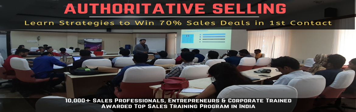 Book Online Tickets for Sales Training in Delhi, New Delhi. After the last Super successful \'Authoritative Sales Training\' workshop, excited to announce the next workshop. If you have been struggling to sell, this workshop is for you -  Struggling to generate meeting.Gatekeepers Block you? Customers a