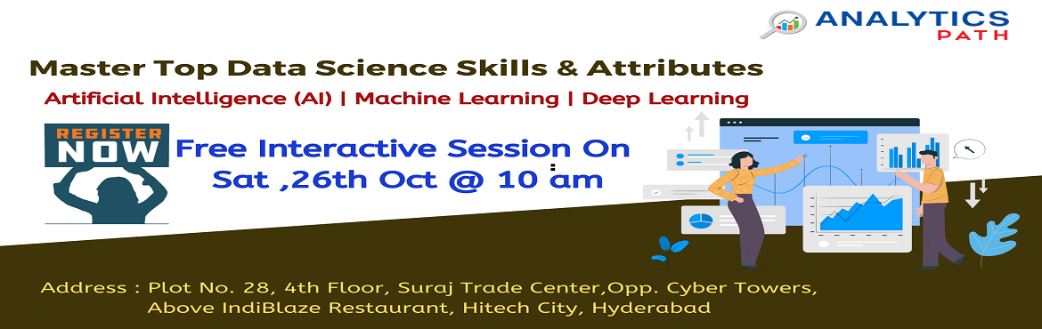 Attend Free Data Science Workshop To Kick Start Your Analytics Career In 2019-By Analytics Path On 26TH October 10 am, Hyderabad.