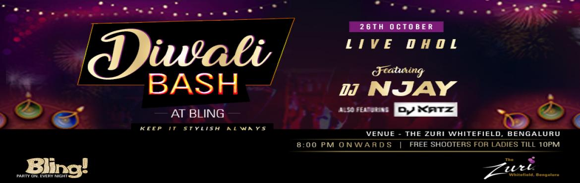 Book Online Tickets for Diwali Bash Ft. Dj Njay, Bengaluru. Diwali Bash @ Bling with Dj N Jay & Dj Katz with Live Dhol. Get ready to dance to the tunes of some all-time classic numbers on Saturday 8pm onwards with the most amazing DJ! We got an amazing night ahead; its Goanna be proper Desi Punjabi tunes