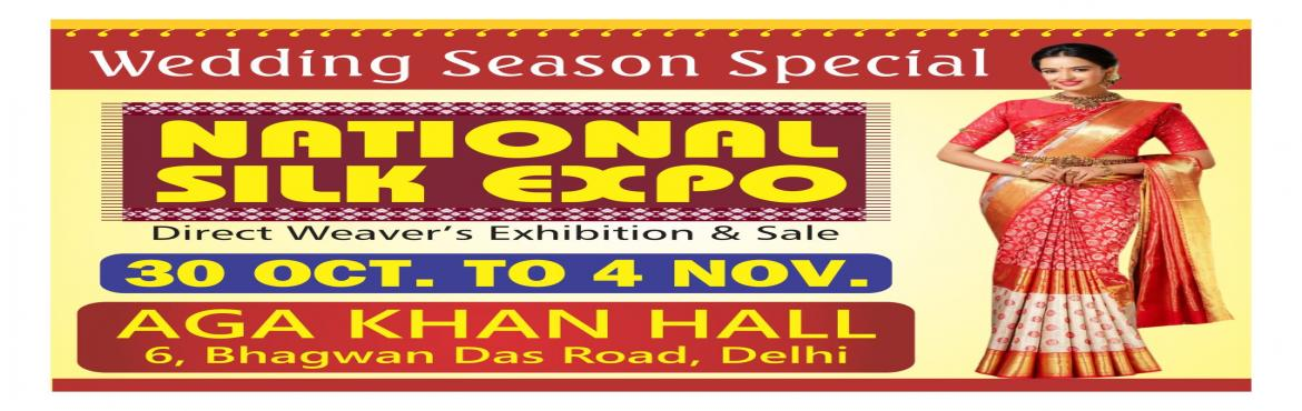 Book Online Tickets for National Silk Expo, New Delhi.  The shift from traditional silk saris to finer and softer silken weaves with contemporary prints is gradually becoming obvious. With a wide collection of products sourced directly from weavers from across India, shoppers will be spoilt for cho