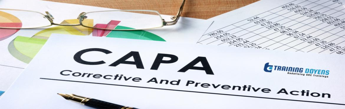 Book Online Tickets for Avoiding Death by CAPA (Corrective and P, Aurora. OVERVIEW We'll discuss requirements, the myths, and the challenges of managing CAPAs so you can avoid common problems and pitfalls. We'll discuss the CAPA best practices so you can start off on the right foot and always be prepared for an