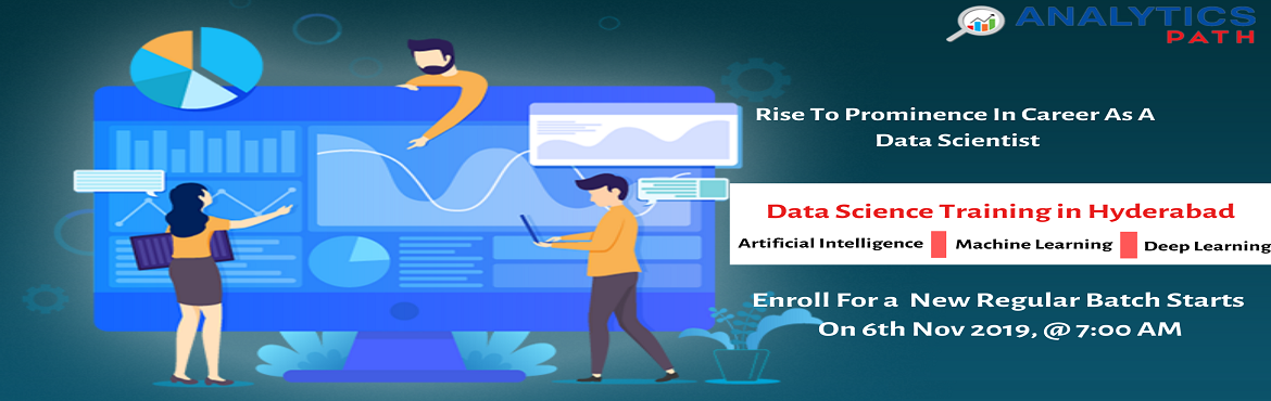 Register For Data Science New Regular Batch By IIT  IIM Experts Commencing From 6th Nov, 7 AM , Analytics Path, Hyderabad