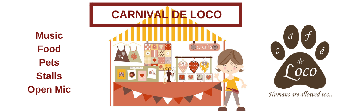 Book Online Tickets for CARNIVAL DE LOCO, Hyderabad. A Fun filled Event for a cause! The Eventisone of the largest gathering of Animal Lovers in Hyderabad. Please contact us separately if you would like to put up a Stall during the event, we are expecting upwards of 100+ guests for th