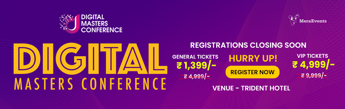 """Book Online Tickets for Digital Masters Conference-HYD, Hyderabad.  Success Gyan Brings To You India\'s First """"Digital Masters Conference"""" This is where India's top digital experts come together on a common platform and share cutting edge strategies and techniques to grow your business online. Why"""