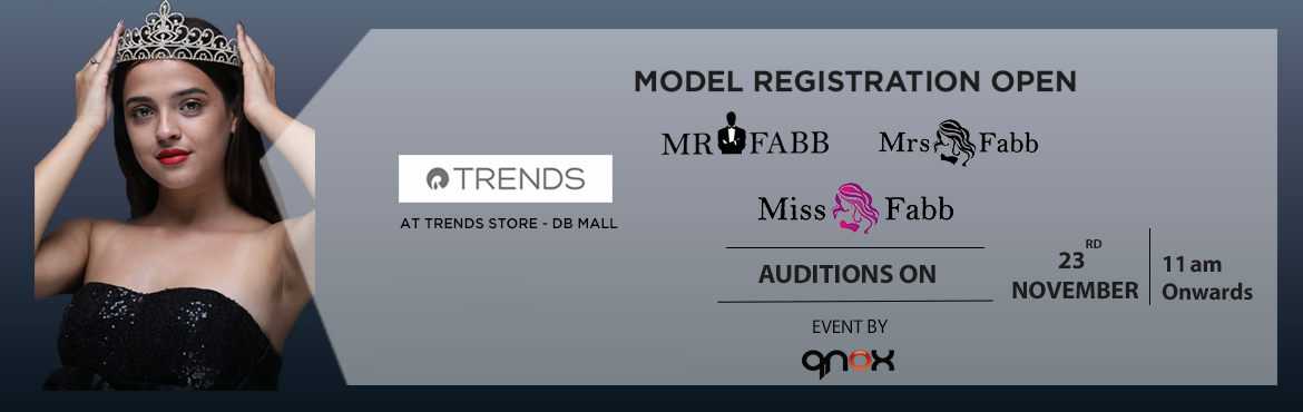 Book Online Tickets for Miss / Mrs / Mr Fabb Bhopal Auditions 20, Bhopal. Audition for biggest beauty pageant of Bhopal city. Once you are selected in the audition you will go through the training and grooming session 29th, 30th November and 1st 5th, 6th, 7th December 2019. Fees of Rs 7500 will be applicable for the finali