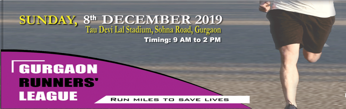 Book Online Tickets for Gurgaon Runners League , Gurugram. A marathon for all which is going to be on 8th of december this year in which more than 5000 people are participating , just for a single cause \