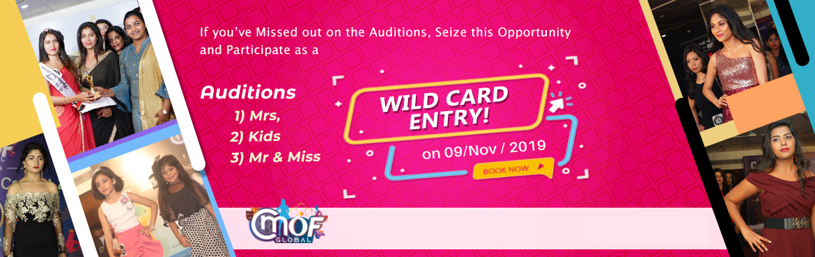 Book Online Tickets for Wild Card Entry to Mr and Miss Urban Ind, Hyderabad. If you have missed out on the auditions of the fashion shows that will be held, this is a brilliant opportunity for you to join these events as a Wild Card Entry. This is an excellent chance for models to enter and participate in the fashion shows at