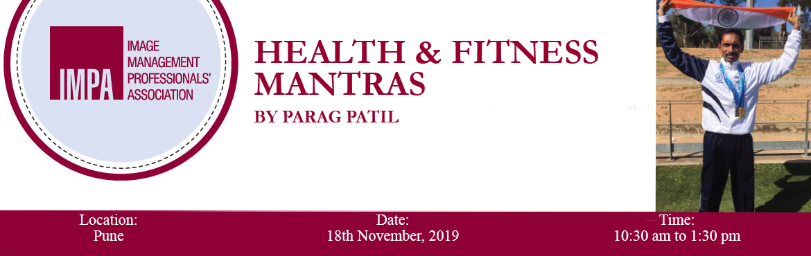 Book Online Tickets for Health and Fitness Mantras by Parag Pati, Pune. About the expert Senior Olympian Parag Patil is a Silver Medallist in Triple Jump, Torino - Italy in 2013 & Auckland in 2017 and a Gold Medallist in Australian Masters Games 2015. Recently, he won 4 silver & 1 bronze medal at the Austral