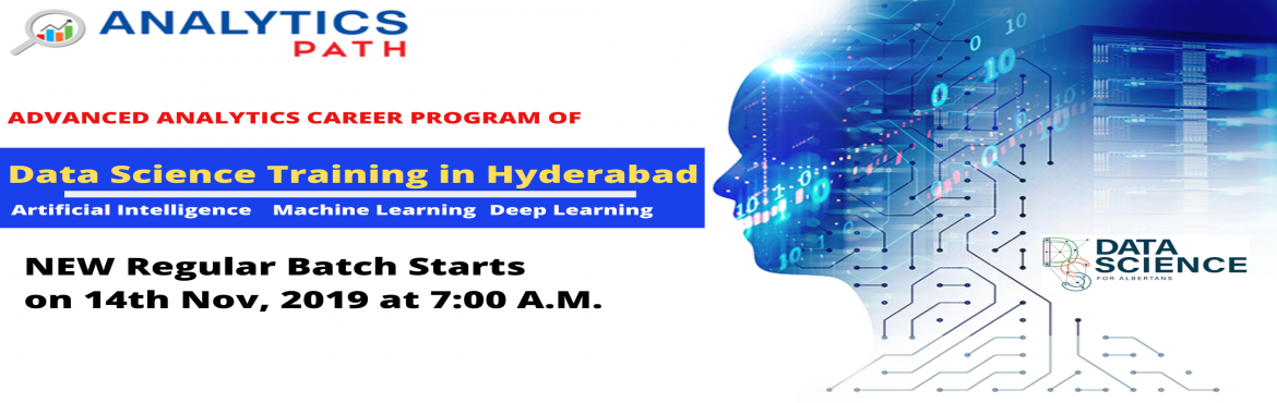 Data Science New Regular Batch By Trainers From IIT  IIM, By Analytics Path Commencing From 14th Nov at 7:00 AM, Hyd. Reserve Your Seat