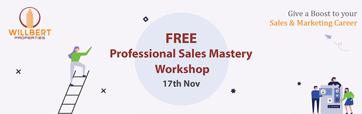 Book Online Tickets for FREE Professional Sales Mastery Workshop, Pune. Has your sales career come to a standstill?Do you want to do more than just work for a company?Or do you want to be a business associate with a huge company?The answer to all your questions ends here. A leading Mumbai based Real estate company is con