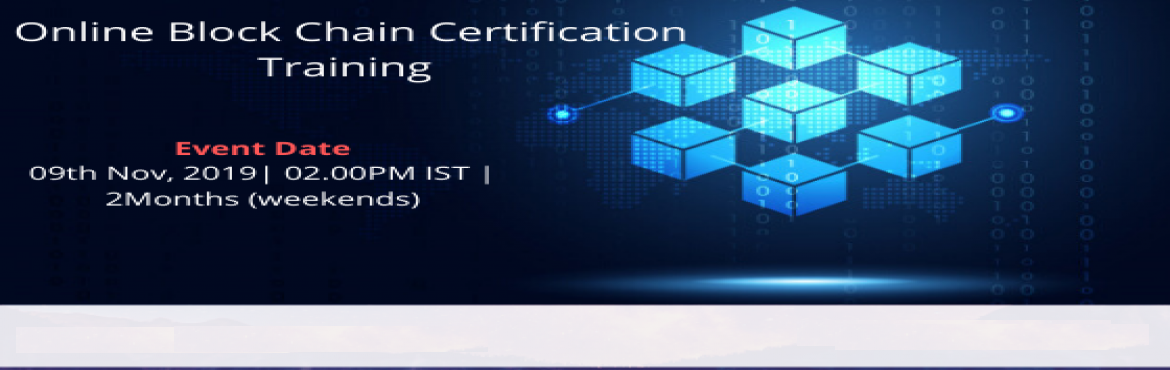 Book Online Tickets for Online Block chain Certification trainin, Bangalore. Blockchain is the latest trending technology that supports digital currency (Bitcoin, Ethereum, Litecoin, etc.). The Blockchain technology agrees digital information be dispersed, but not copied. That means each separate piece of data can only have o