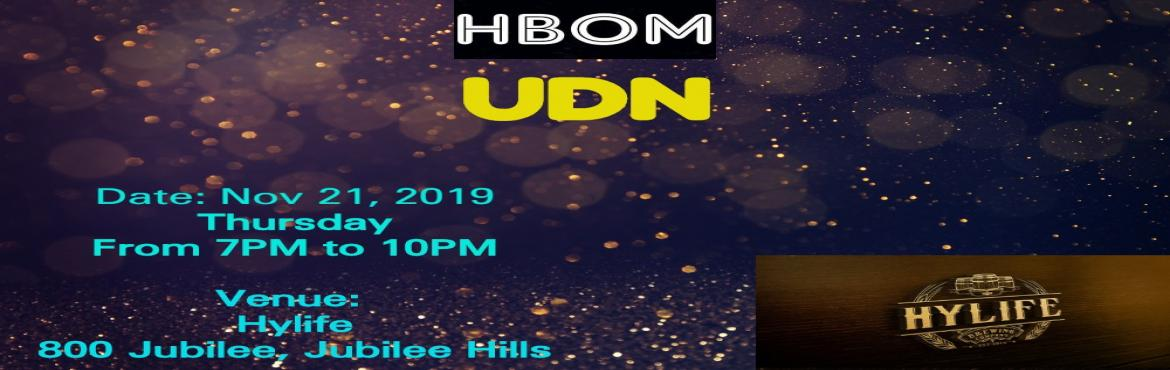 Book Online Tickets for Unofficial Digital Nights - Informal Bus, Hyderabad. The much awaited get together of HBOM is here. It is HBOM UDN (Unofficial Digital Nights)this time, going to be informal business networking and chance for long one to one interactions.