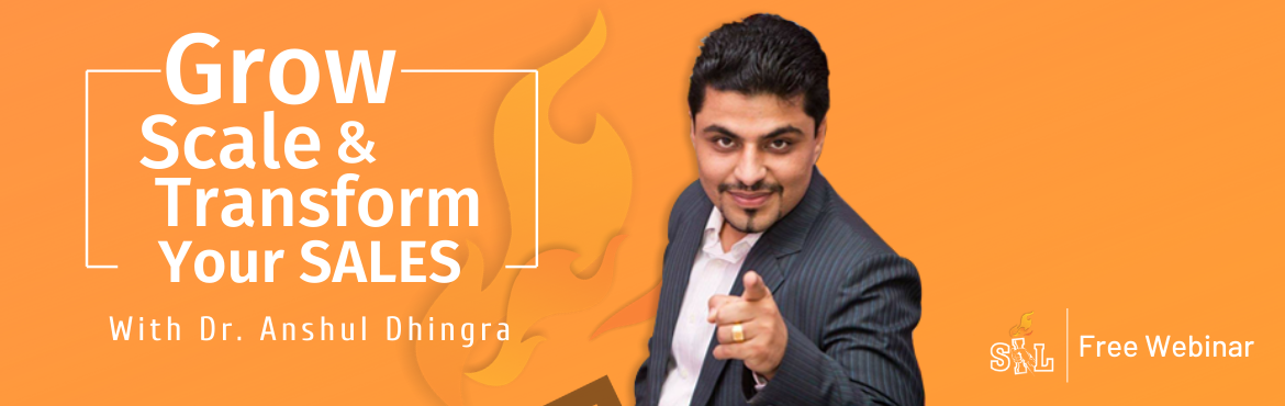 Book Online Tickets for GROW SCALE AND TRANSFORM YOUR SALES - FR, Gurugram. 80% of the entrepreneurs / business owners I met during various engagements says that they have lost maximum sales to PRICE WAR whereas A recent Harvard Study discovered that only 6% of all sales are determined by price alone.  The bottom line