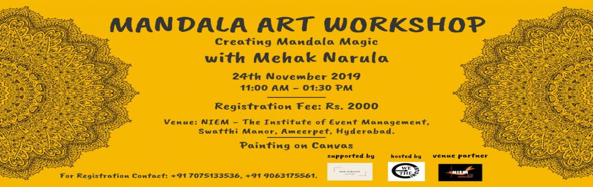 Book Online Tickets for Mandala Art Workshop , Hyderabad.  Inspired by Carl Jung\'s technique connecting Art & Circles in Daily Life and Personal Well- BeingMindfulnessis a state of bringing our attention to the current moment. It involves non-judgementalawareness of our thoughts, emot