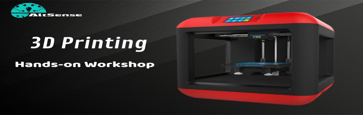 Book Online Tickets for 3D Printing one day hands on workshop, Chennai. 3D Printing - one-day hands-on workshop Agenda  3D Printing Introduction Applications of 3D Printing in different fields 3D online platforms Designing in Google Sketchup 3D Slicing Design your model Make 3D printed objects  Date - 17/11/2019 Venue -