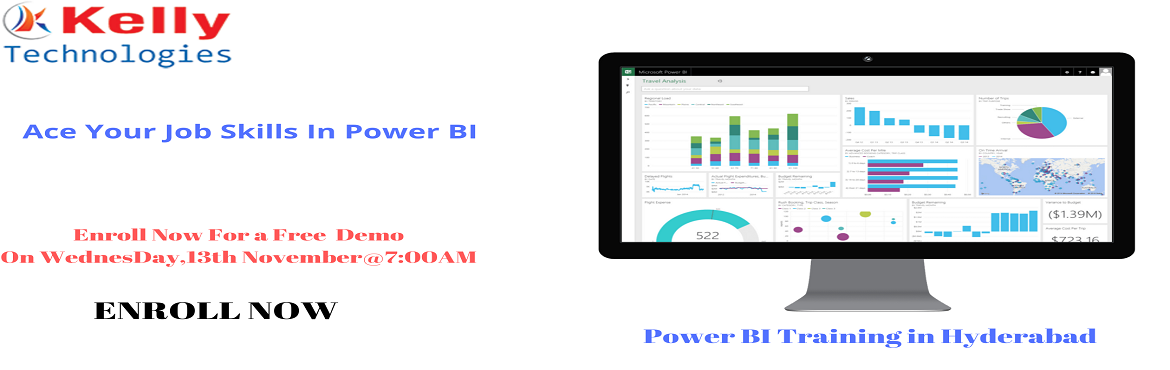 Book Online Tickets for Get Success In Power BI Technology By Re, Hyderabad. Get Success In Power BI Technology By Registering For Free Demo Session At Kelly Technologies On13thNov,7:00AMInHyd. About The Event- Power BI is one among the most advanced Business intelligence technology t