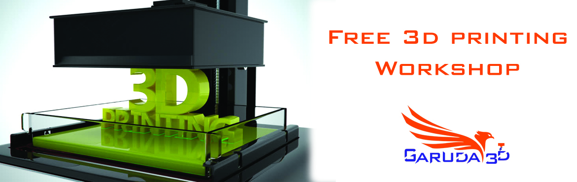 Book Online Tickets for Free 3d Printing Workshop on 16-Nov-19, Hyderabad. Get into 3d printing with professionals In this workshop participants will learn and explore the fundamentals of 3D printing—from ideas to 3d prints.  Topics will include:  What is 3D printing: a basic introduction to the various processe