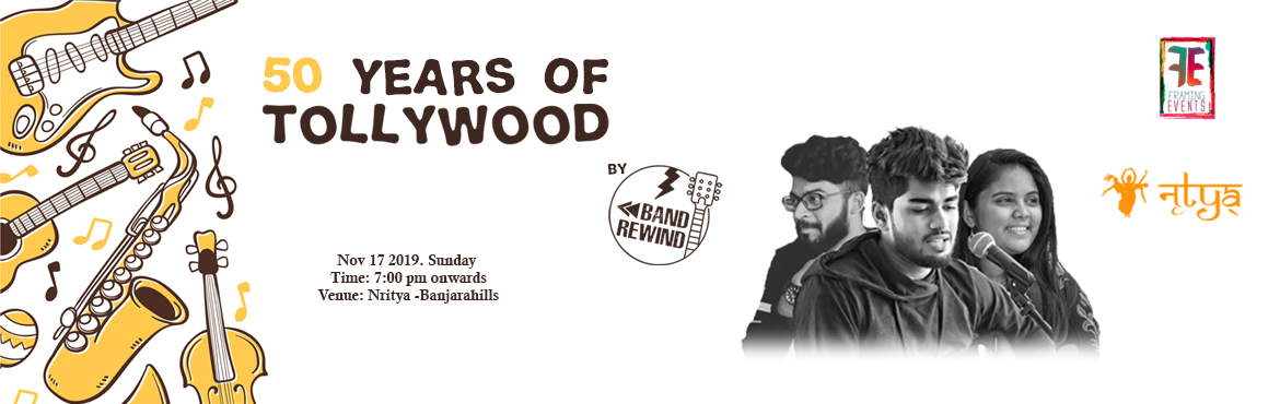 Book Online Tickets for 50 years of Tollywood, Hyderabad. 50 years of tollywood is an event where our team is performing all telugu hits from last 50 years…. We perform atleast one song for each and every year from 1970 to2019, Our Singers and Musicians are ready to perform such beautiful mashup for