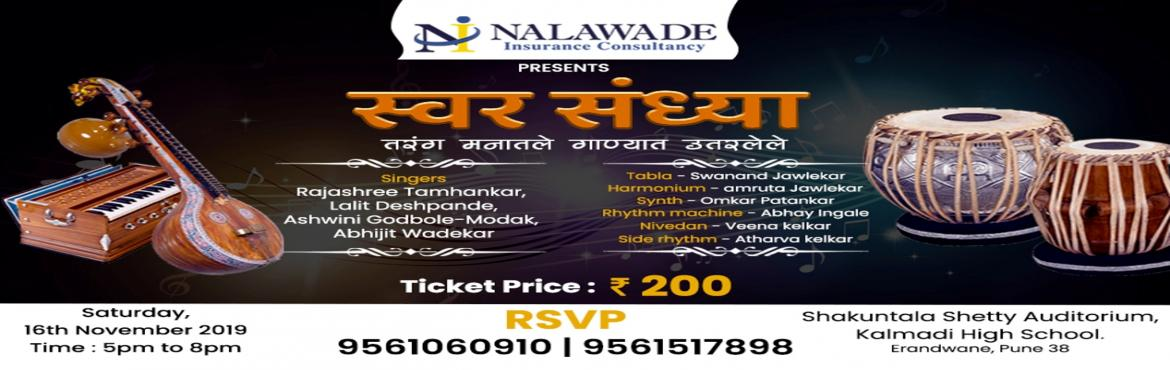 Book Online Tickets for Swar Sandhya - Musical Event, Pune. It is said that music is an art in which you enjoy heavenly happiness, in which you forget all your stress, in which you were enchanted. We are bringing you a concert like this - \