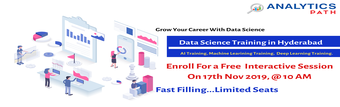 Book Online Tickets for Data Science informative sessions, 17th , Hyderabad. About The Event: It's high time now everyone must be well aware of the fact that data can be used in simultaneously in various ways that add a new value to the business development and can be realized only after the number that has been crunche