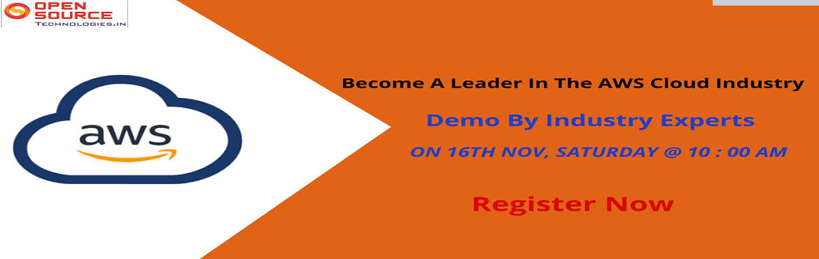 Book Online Tickets for Free AWS Demo on 16th  Nov 2019 at Open , Hyderabad. Cloud computing Infrastructure opens up the new flexibility and economy for your business which has come up with rapidly evolving security landscape. AWS technology mainly provides the elasticity of your business needs that gains importance to ensure