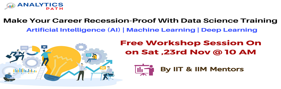 Book Online Tickets for Register For Data Science Free Workshop , Hyderabad. Register For Data Science Free Workshop Session-Kick Start Your Data Science Career In 2019-By Analytics Path On 23rd Nov at 10 AM, Hyderabad About The Event: Data Science is currently the leading analytics technology that has gained immense de