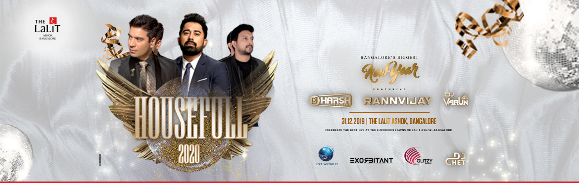 Book Online Tickets for HOUSEFULL 2020, Bengaluru. Bangalore's elite new new year party comes together once again! UnveilingNYE HOUSEFULL 2020at The Lalit Ashok! An incomparable space and second-to-none celebration at the lawns of Lalit Ashok for an immersive experience. Celebrate t