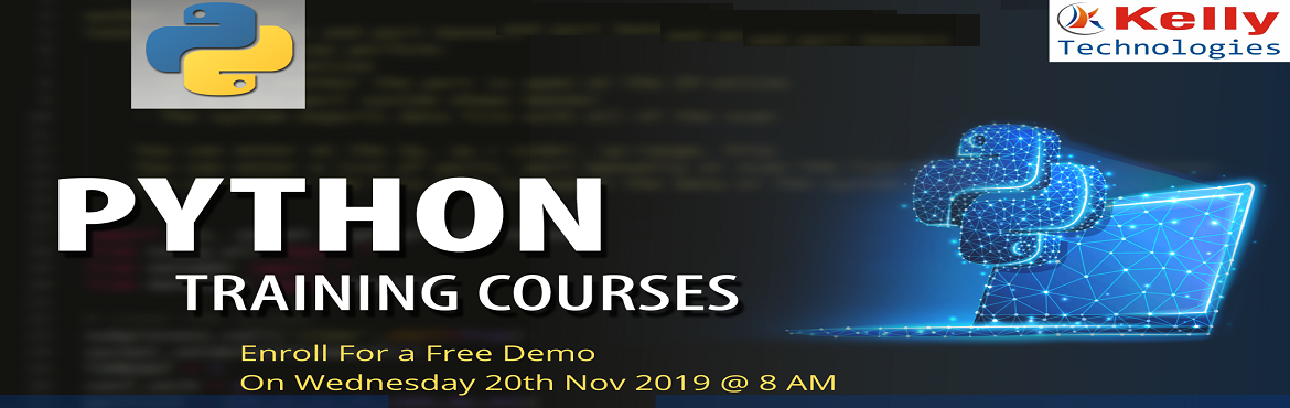 Book Online Tickets for Register For Free Python Demo Sessions B, Hyderabad. About The Event- Python is the most buzz word these days to enhance career in the trending technology. Python Training in Hyderabad helps the aspirants to build the various applications and usage of Python for Data analytics. It allows the work to co