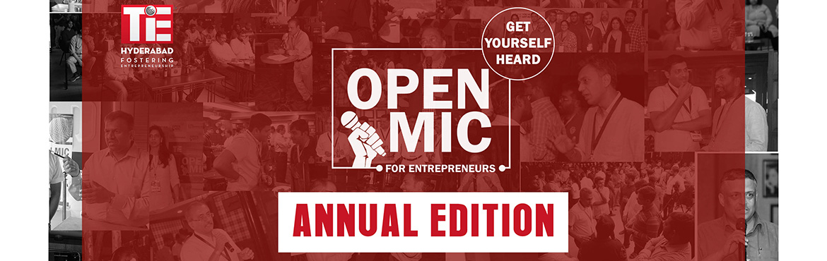 Book Online Tickets for Open Mic for Entrepreneurs - Annual Edit, Hyderabad. Launched in January 2019 by our TiE Hyderabad chapter, Open Mic evolved as a platform for networking of Entrepreneurs & Entrepreneurship Enablers. Held on the last working day of every month, this is attended by a curated list of 80+ founders alo