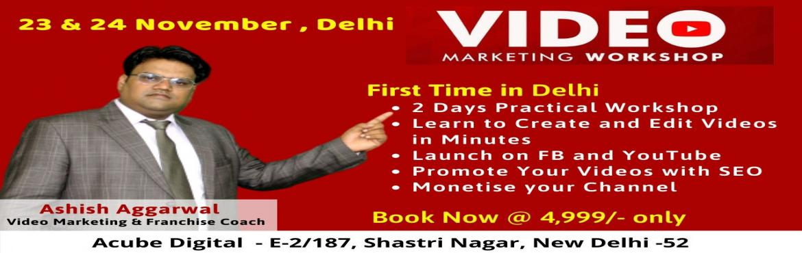 Book Online Tickets for Video Marketing Event in New Delhi , New Delhi. Why Becoming Expert in YouTube Workshop is important for you. As you know, Youtube is the No. 1 search engine for Videos and facebook is the best choice for every audience We all love to watch Videos so the blogs with videos are preferred