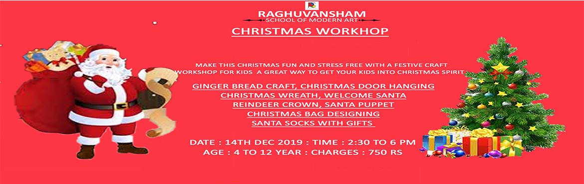 Book Online Tickets for Christmas Workshop 2019, Delhi. CHRISTMAS WORKSHOP Make this CHRISTMAS fun and stress free with a festive craft For kids, A great way to get your kids into CHRISTMAS SPIRIT  GINGER BREAD CRAFT, CHRISTMAS DOOR HANGING CHRISTMAS WREATH, WELCOME SANTA REINDEER CROWN, SANTA PUPPE